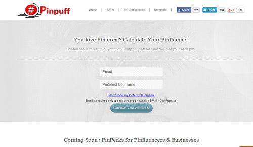 Pinterestでの影響度を測定してくれる「Pinpuff」