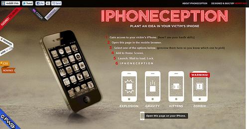 なんちゃってiPhoneホーム画面の「iPhoneception」
