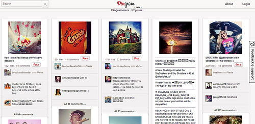 InstagramとPinterestのマッシュアップサイト「Pingram」