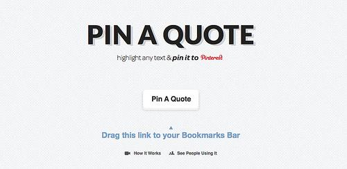 テキストをPinterestに投稿できる「Pin A Quote」