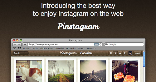 PinterestとInstagramのマッシュアップサイト「Pinstagram」