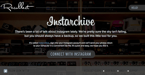 Instagramの写真をZipファイルでまとめてダウンロードできる「Instarchive」