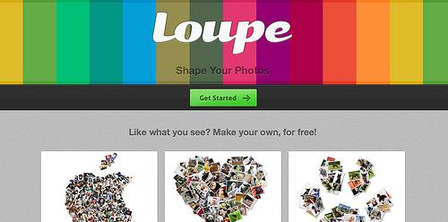 SNSへ投稿した写真でコラージュを作成する「Loupe」