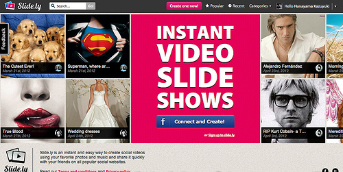 BGM付きのスライドショーが作成できる「Slide.ly」