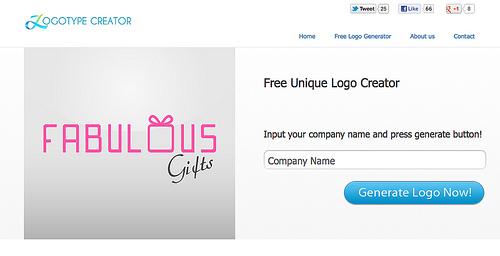サクッとロゴが作成できる「Logotype Creator」