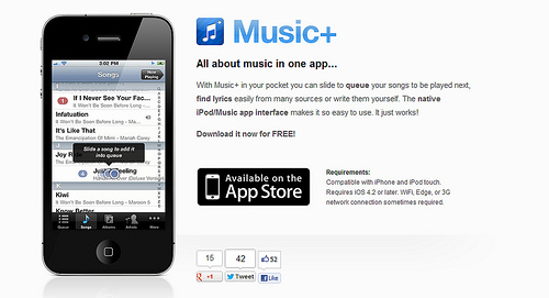 iPhoneでLast.fmと連携するなら「Music+」がおすすめ