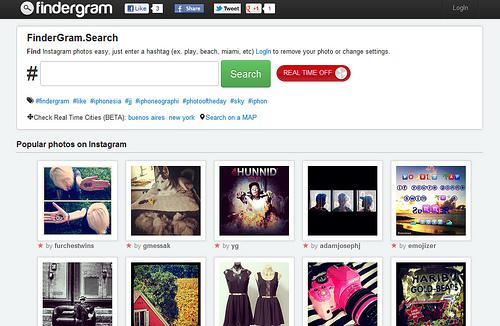 タグでInstagramの写真を検索できる「Findergram」