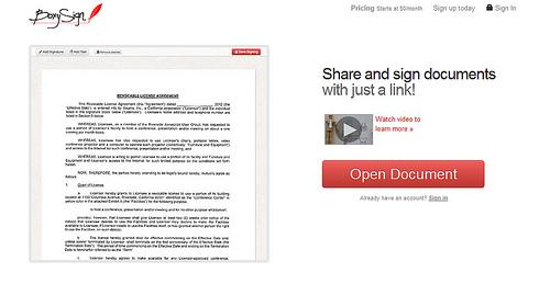 オンラインで手書きのサインができる「BoxySign」