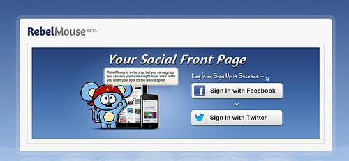 TwitterやFacebookの投稿からPinterest風のサイトを作成する「RebelMouse」