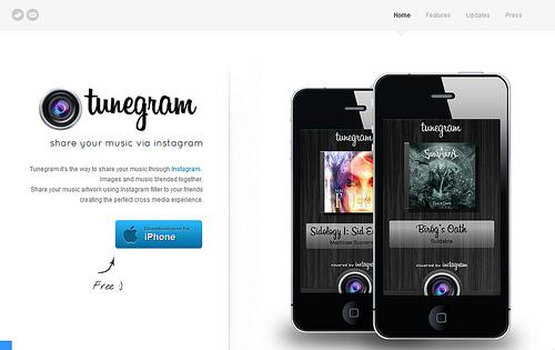 今、聴いている曲のアートワークをInstagramで共有できる「Tunegram」