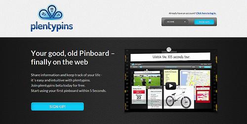 おしゃれなPinboardが作成できる「Plentypins」