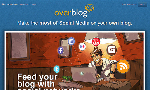 Twitter,Facebook,Instagramなどの投稿からブログが作成できる「OverBlog」