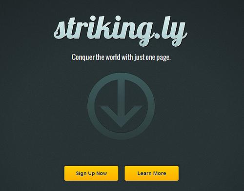 カッコいいページがすぐに公開できる「Striking.ly」