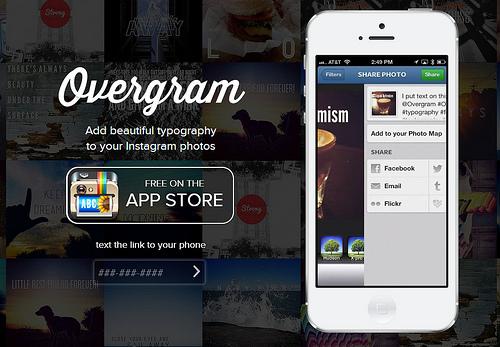Instagramの写真にカッコいいタイポグラフィを埋め込むことができる「Overgram」