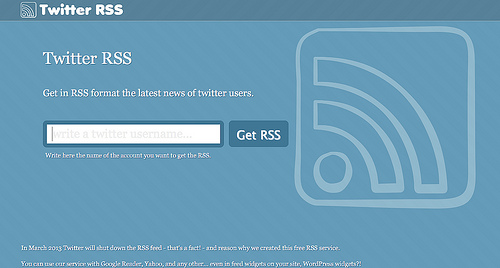 ツイートをRSSで受け取る方法まとめ