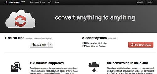 さまざまなファイル形式に変換してくれる「CloudConvert」