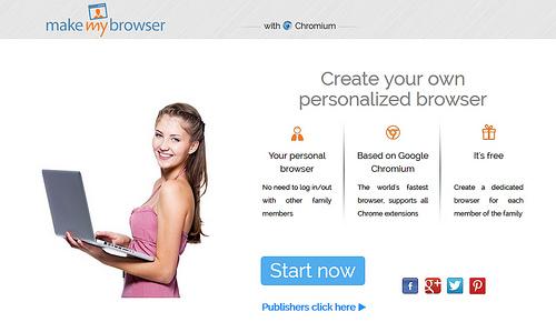 自分だけのブラウザーを作成できるMake My Browser