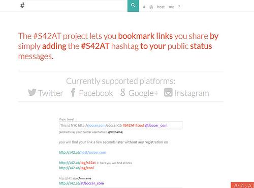 タグを付けて投稿するだけ登録してくれるブックマークサービス#S42AT