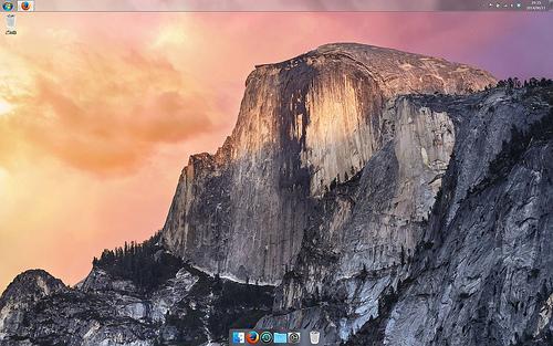 デスクトップをYosemite風にしてみました