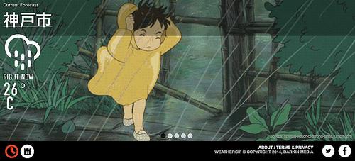 今の天気がGIFアニメで表示されるWeatherGIF