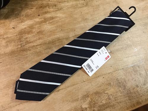 ユニクロのネクタイを買ってみた