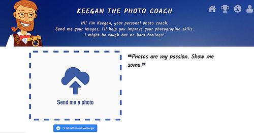 撮った写真をコメント付きで採点してくれる「KEEGAN THE PHOTO COACH」