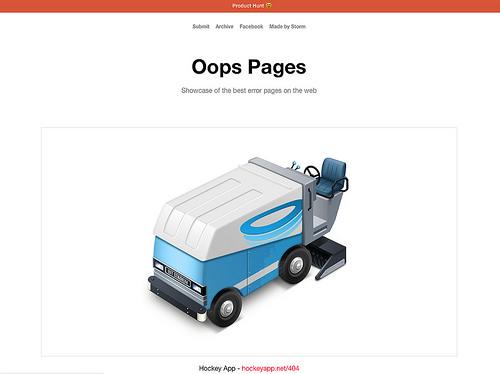 クリエティブな404ページを集めたOops.re