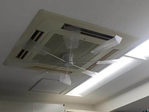 エアコンにハイブリッドファンを付けてみました